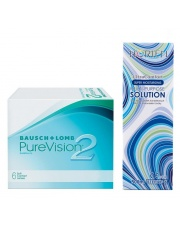 PureVision 2HD 6 szt. z płynem Horien 120ml